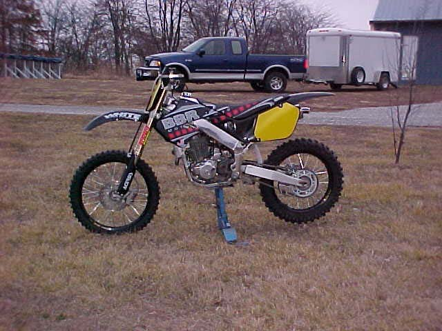 XR400 stuffed into CR250R chassis